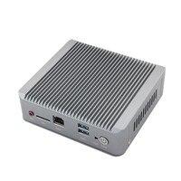 New Celeron j1900 mini pc quad core fanless pc with 1*HDMI 2*rj45 Ethernet USB3.0 Support wifi Mini Quad Core Nano PC Computer