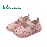 Claladoudou13.5 15.5CM Summer Shoes 0 3Years Baby Girls Sandals Hollow Flower Retro Children Shoes Soft Bottom Newborn Toddler