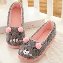 Wholesale hot selling fashion Cute Flannel little bear female Floor Slippers For Indoor bedroom house ladies shoes
