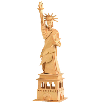BOHS Building toys Statue of liberty wooden model  3d assembling model of Miniature  DIY