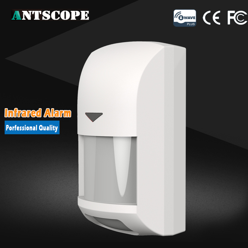 Antscope Zwave Motion Detector Sensor Alarm Z-wave Z wave Wireless Infrared Motion Sensor Smart Home Automation Security Systems neo coolcam nas pd02z new z wave pir motion sensor detector home automation alarm system motion alarm system eu us version