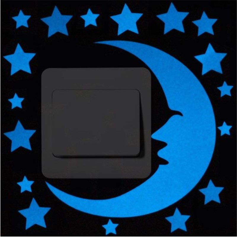 Luminous klistermärken Sömnig katt / Star Moon Glöd i den mörka - Heminredning - Foto 6