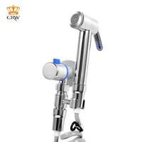 CRW Handheld Bidet Sprayer with Valve Kit for Toilet Peg Shower Sprayer Wall Mounted Bathroom Accessory KJ3960