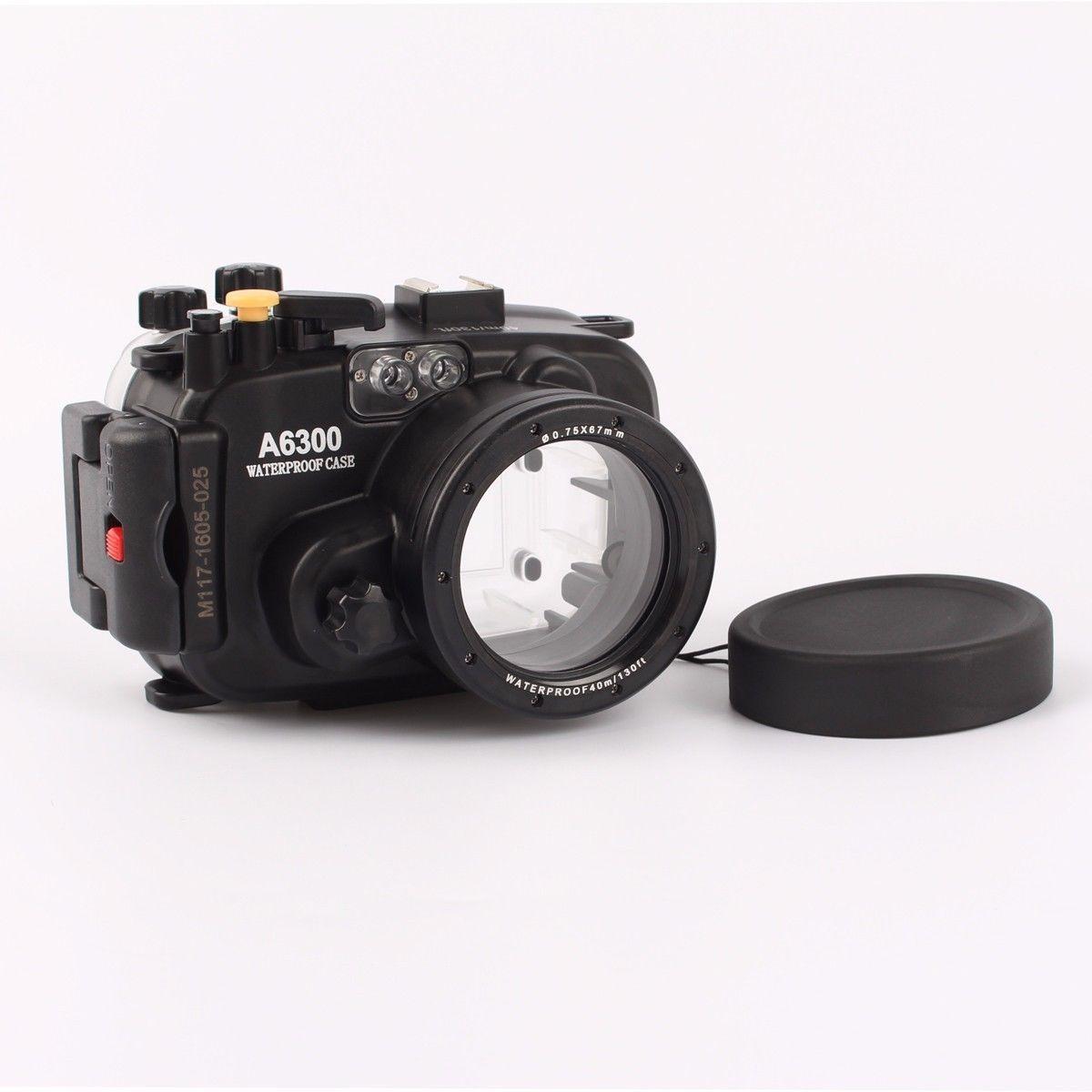 diving Waterproof Underwater Housing Camera bag Case+ Red Filter for Sony A6300 16-50mm Lens waterproof underwater housing camera bag case for sony a6000 16 50mm lens