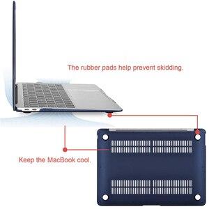 Image 3 - קריסטל מט חלבית מקרה כיסוי שרוול עבור Macbook אוויר רשתית Pro 13 15 עם/החוצה מגע בר A1706 A1707 a1990 אוויר 13 2018 A1932