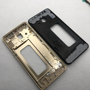 Image 5 - For Samsung Galaxy A8 2018 A530 A530F Full Housing Middle Frame metal Bezel Housing Chassis A8 Battery Glass Back Cover