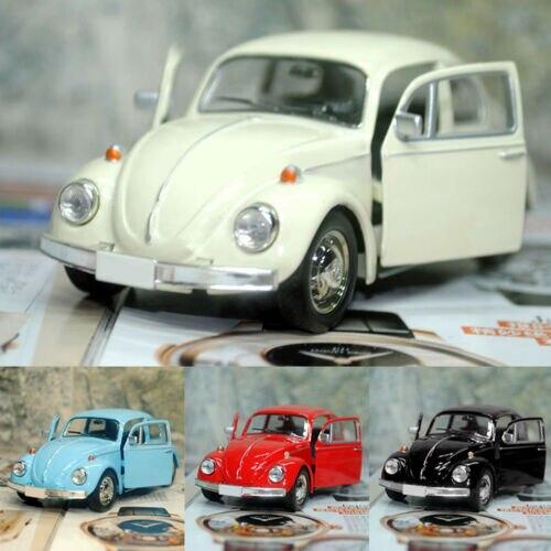 Juguete de coche retro de escarabajo fundido a presión juguete de modelo de coche decoraciones de regalo para niños convencional