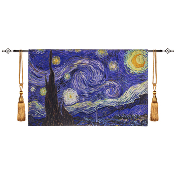 The Starry Night Famous Works By van Gogh Tapestry Wall Hanging Home Decoration Wall Cloth Tapestries Gobelin