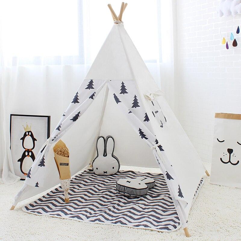 Tente de jeu pour enfants Style indien Wigwam Tipi pour enfants mignon jeu tente bébé cabine princesse château pour fille Tipi jouets pour garçon