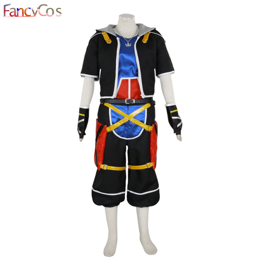 Halloween Kingdom Hearts II Sora Outfit  Necklace Cosplay Costume High Quality Custom Made
