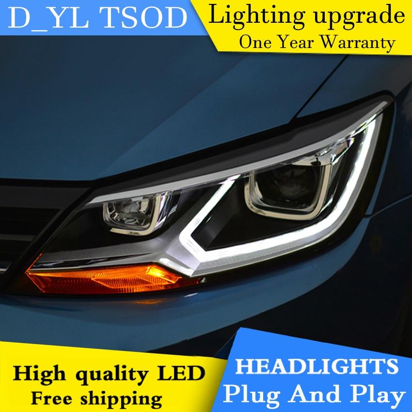 Car Styling Headlights for VW Lamando 2015 LED Headlight for VW Lamando Head Lamp LED Daytime