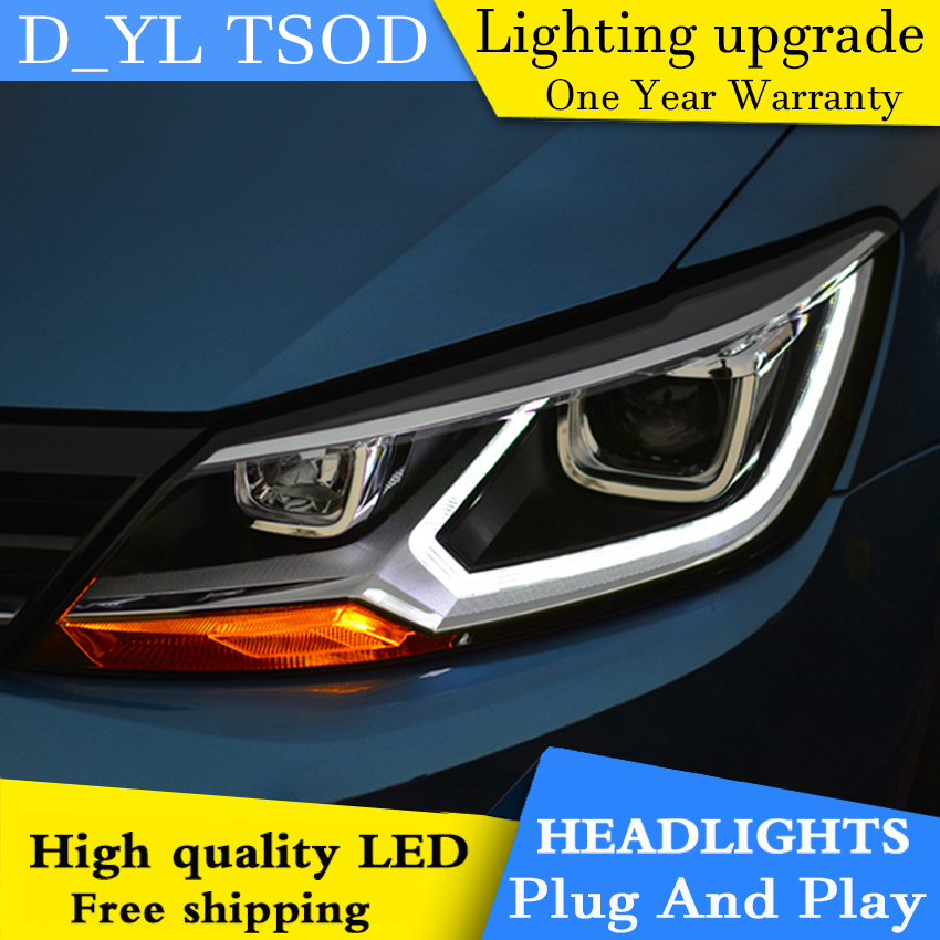 Car Styling Headlights for VW Lamando 2015 LED Headlight for VW Lamando Head Lamp LED Daytime Running Light LED DRL Bi Xenon HID-in Car Light Assembly from Automobiles & Motorcycles    1