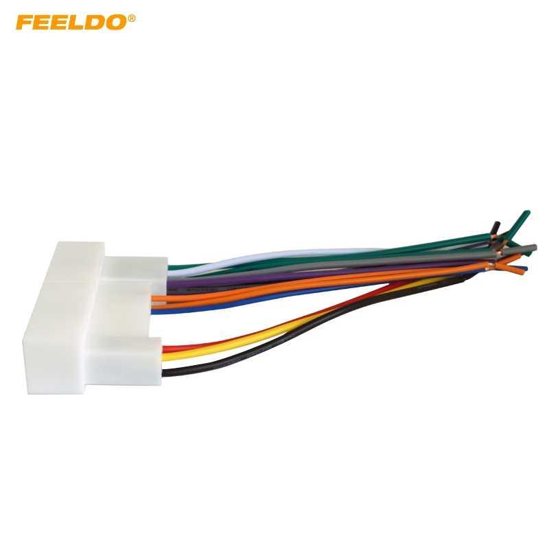FEELDO רכב רדיו סטריאו חיווט לרתום מתאם תקע עבור יונדאי IX35/Elantra/סנטה פה/סונטה Aftermarket CD /DVD סטריאו Installat