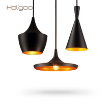 Holigoo Brand Pendant Lights Copper Lampshape E27 Base Edison Bulb Lamp Home Lighting Pendant Lamp Kitchen Fixtures Light