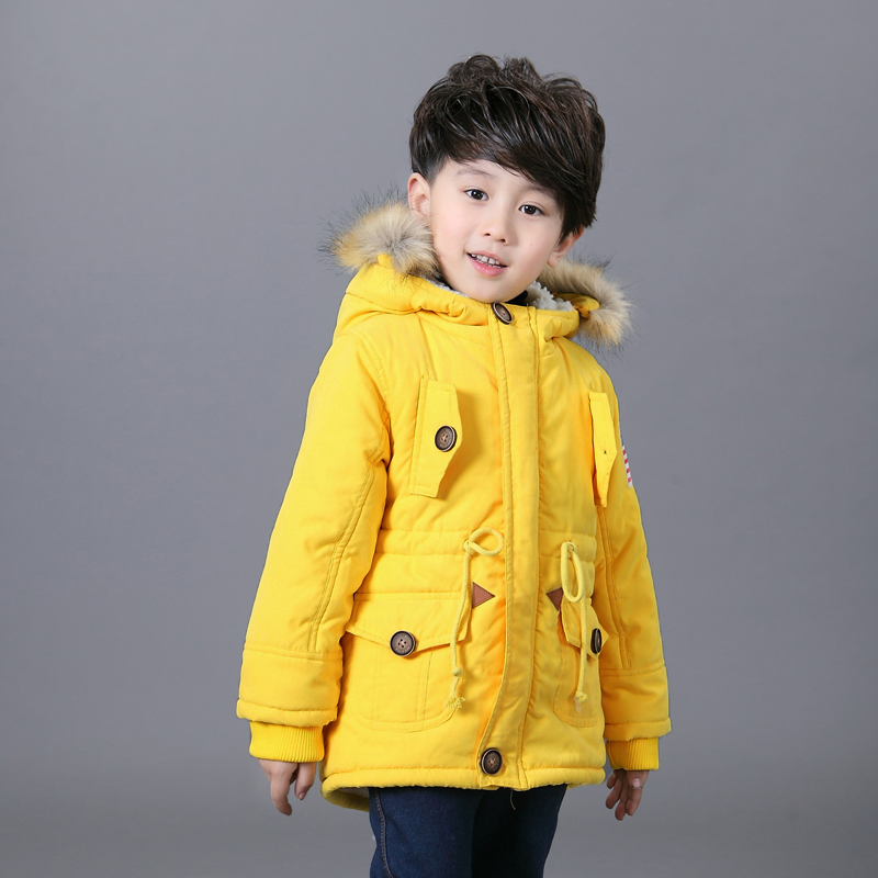 2017 Children Winter Clothes Girl Boy Coats Jacket Girl Kids Fleece Fur Hooded Coat Thick Cotton Warmer Boy Winter Coat 2-8Y 2017 winter new clothes to overcome the coat of women in the long reed rabbit hair fur fur coat fox raccoon fur collar