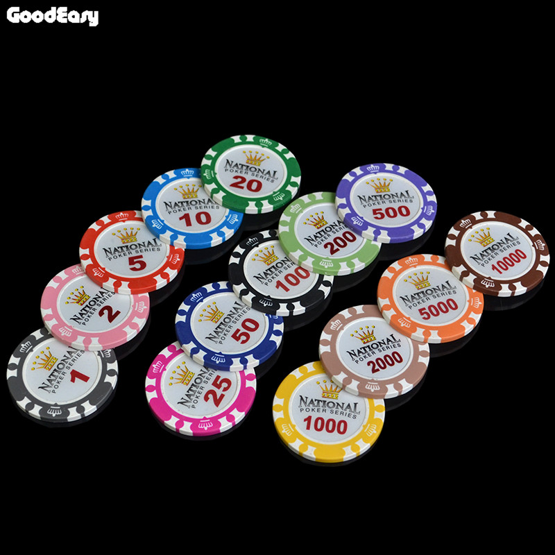 25 pcslot factory price cheap 14g 14 colors gold crown monte carlo clay - Clay Poker Chips
