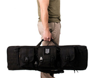 Military Double Rifle Carry Backpack Three Molle Pockets Magazine Pouch Hunting Duel Gun Handbag Integrated Pistol