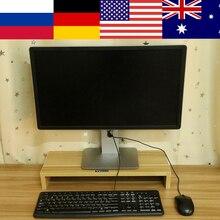 1 слой деревянный монитор стенд ЖК-монитор стояк Настольный дисплей стойка для хранения кронштейнов