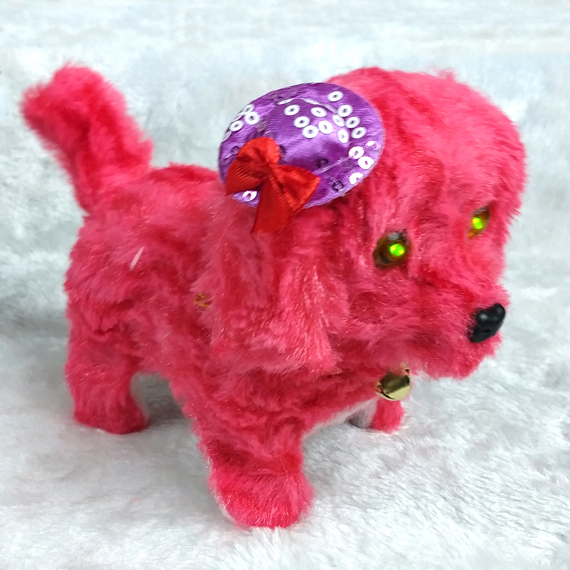 Electric Toy Soft Plush Walking Glowing Barking Dog Funny Simulation Moving Appease Baby Toys For Children
