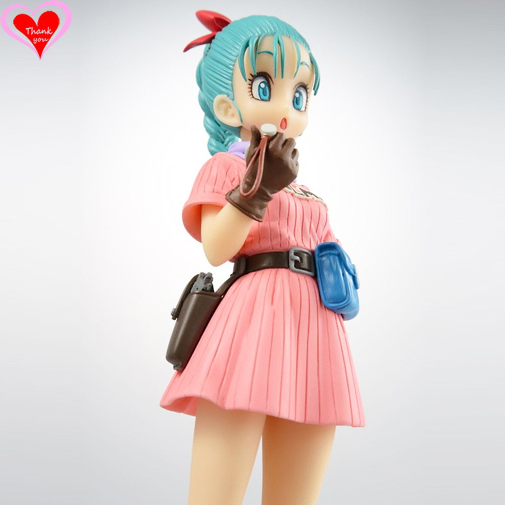 Love Thank You Dragon Ball Z Buruma Bulma PVC Figure 17cm Anime Hobbies Collectibles Model toy doll gift NEW Xmas new ow heroes dva hana song mecha d va pvc figure statue model gift toy collectibles model doll 480