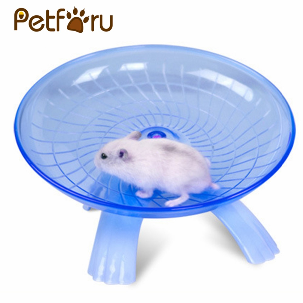 Petforu 18cm Diameter Hamster Mouse Plastic Running Disc Flying Saucer Pet Exercise Sport Jogging Wheel