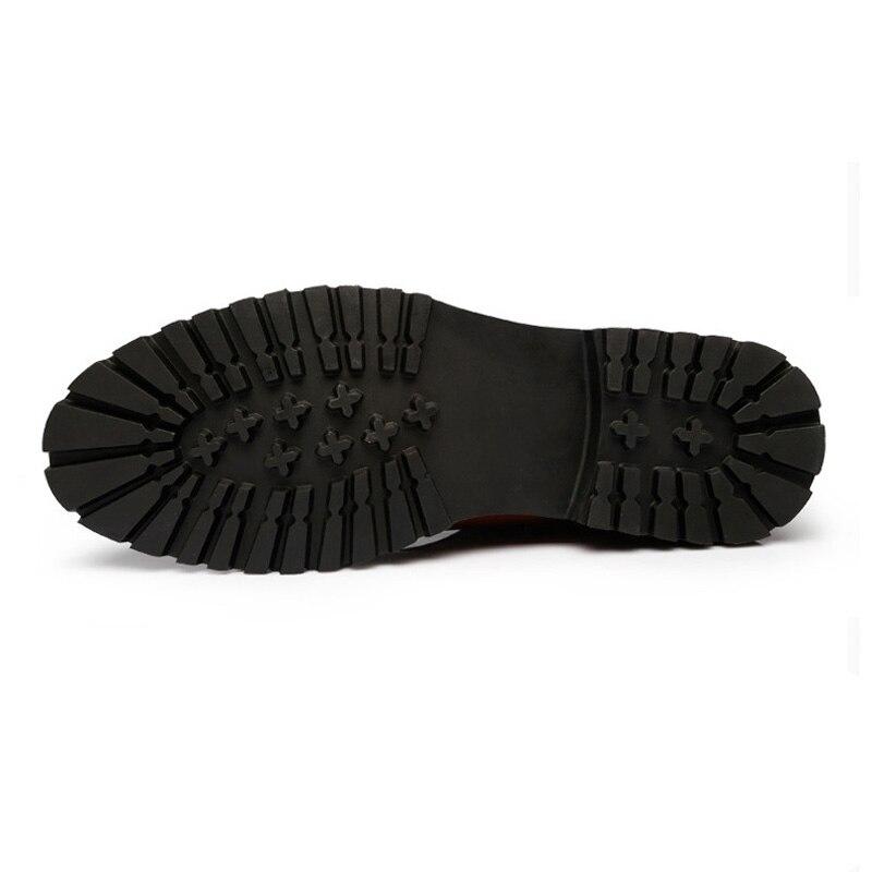 ZYYZYM Mens Boots Autumn Winter Slip On Fashion Split leather Plush Warm Men Chelsea Boots Men Plus Size 38 46-in Chelsea Boots from Shoes    3