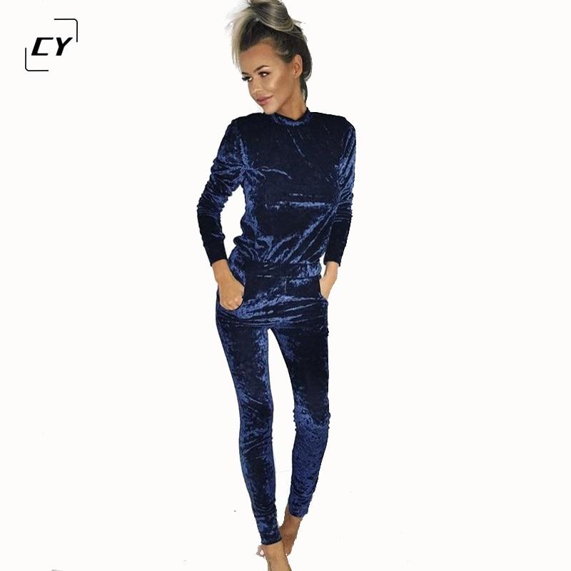 Velvet Jumpsuit Rompers 2017 Spring Bodysuit Gold Velvet Long Sleeve O Neck Sexy Rompers Womens One