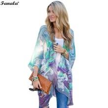 2017 Women Blouses Chiffon Clothing Summer Lady Blouse/Shirt Floral Print Ruffle 3/4 Sleeve Asymmetric Hem loose Tops Blouse#30