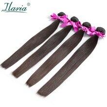 ILARIA волосы перуанские девственные волосы прямые 4 шт./лот класс 7A человеческие волосы переплетения пучки натуральный цвет чувствовать себя мягкие и удобные