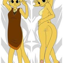Пушистый оркус фандом сексуальный кот дакимакура аниме девушка обнимает наволочки 150 см