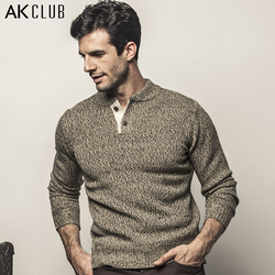 Ak club brand sweater henley collar the expendables 3 contrast color closing fly sweater men casual.jpg 250x250