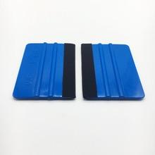2PCS 3M Blue Felt Squeegee Vinyl Film Wrap Tool Fabric Scraper Tinting Tools Window Glass Wash Tools Auto Car Cleaning Tools