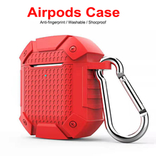 Luxury Shockproof Armor Case For AirPods Wireless Bluetooth Headset Cover Silicon Earphone Air Pods Charging Box