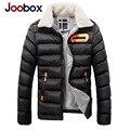 Joobox Marca Roupas Masculinas Grosso Quente Collar Parka Homens Moda Casual Homens Jaqueta de Inverno Outwear Para Homens Tamanho Grande Casaco