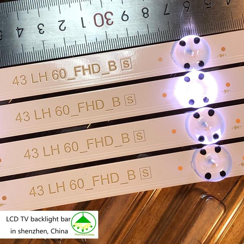 New Kit 6PCS 8LED 85CM LED Backlight Strip For LG 43UH6030 43UF640 UF64_UHD_A 43LH60FHD 43UF6407 43UH610V 43UH619V 43UH603V