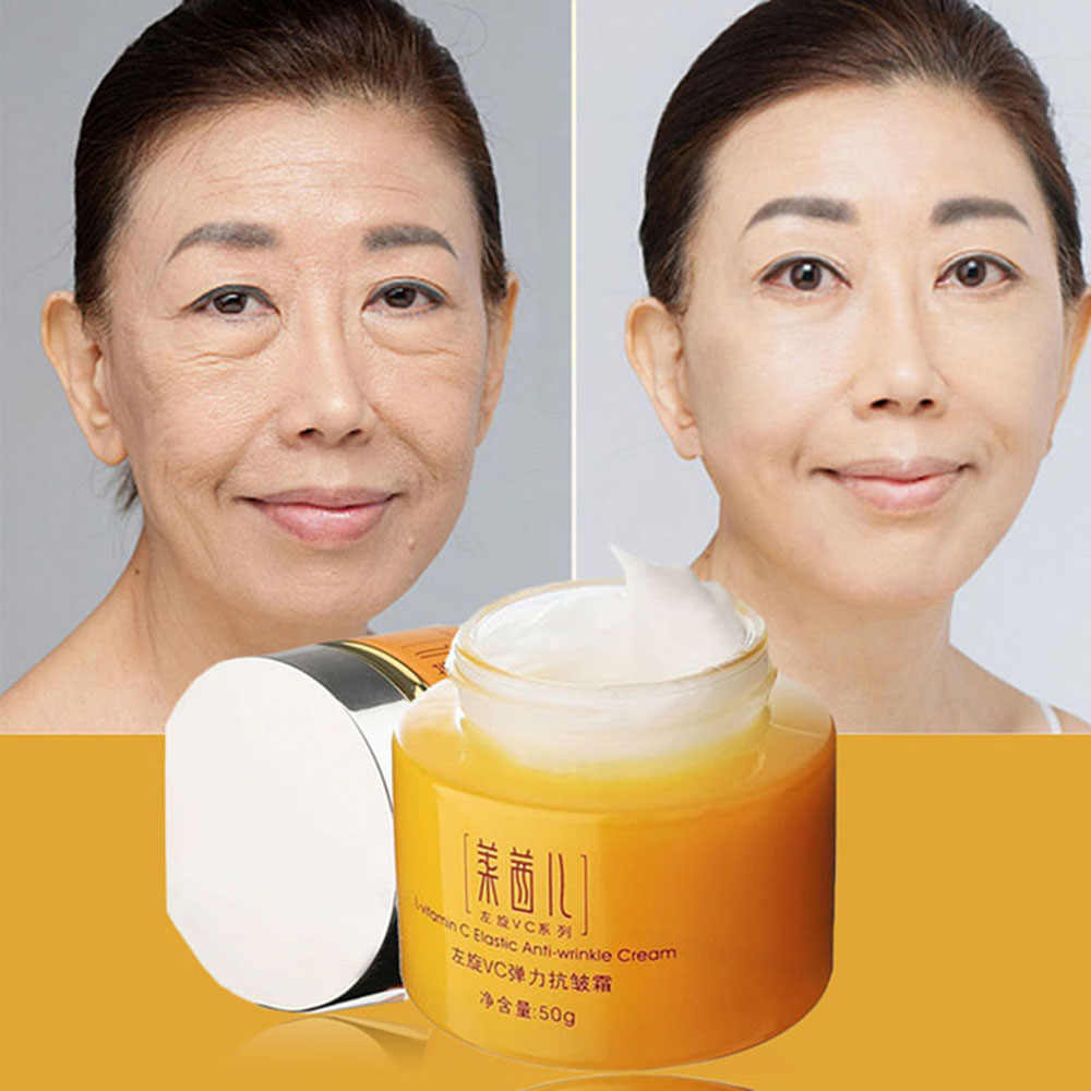 Huidverzorging Vitamine C Crème Voor Anti-Aging Anti Rimpel Hydraterende Whitening Aanscherping Schoonheid Gezicht Crème Koreaanse Cosmetica