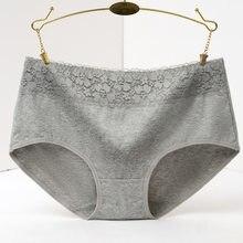 100% algodão roupa interior feminina rendas briefs impressão calcinhas lingeries rosa calcinha plus size shorts underpant senhoras corda feminino
