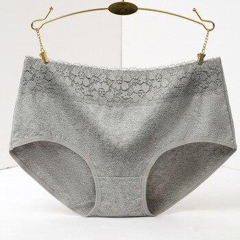396ad676 100% algodón Underwear mujeres Lace Briefs impresión Calcinhas ropa  interior rosa Panty más ...
