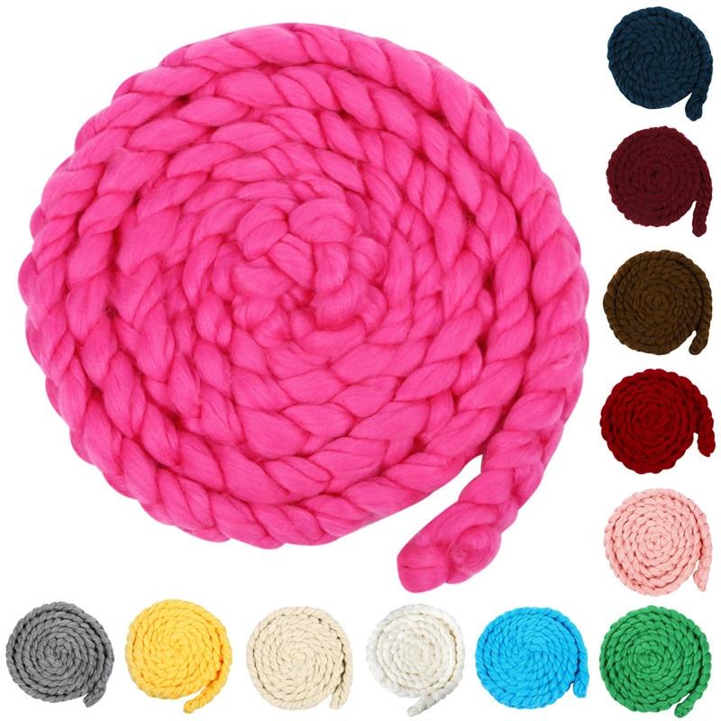 ZuverläSsig Neugeborenen Fotografie Requisiten 4 Mt 12 Farben Wolle Twist Seil Foto Requisiten Hintergrund Baby Fotografie Props Fotografia Kostüm