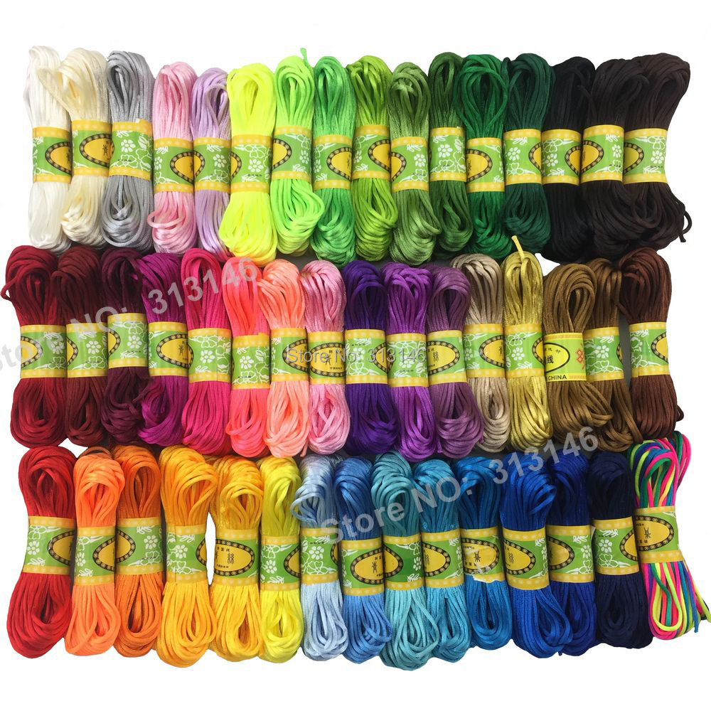 47 Colors 20M Strong Braided Macrame Nylon Cord Findings