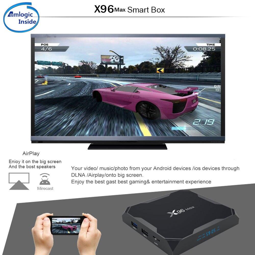 Android 8.1 TV Box X96MAX Amlogic S905X2 4 GB 64 GO Quad Core 2.4G & 5 GHz Wifi 1000 M H.265 4 K lecteur multimédia Smart Set Top Box X96 MAX - 5