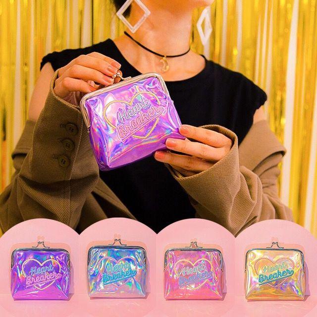 156344eeff Bentoy Laser Hologram Coin Purse PVC Hoop Shining Mini Money Bag Girl Fashion  Purses New Arrive Coin Purses Women Make Up Case