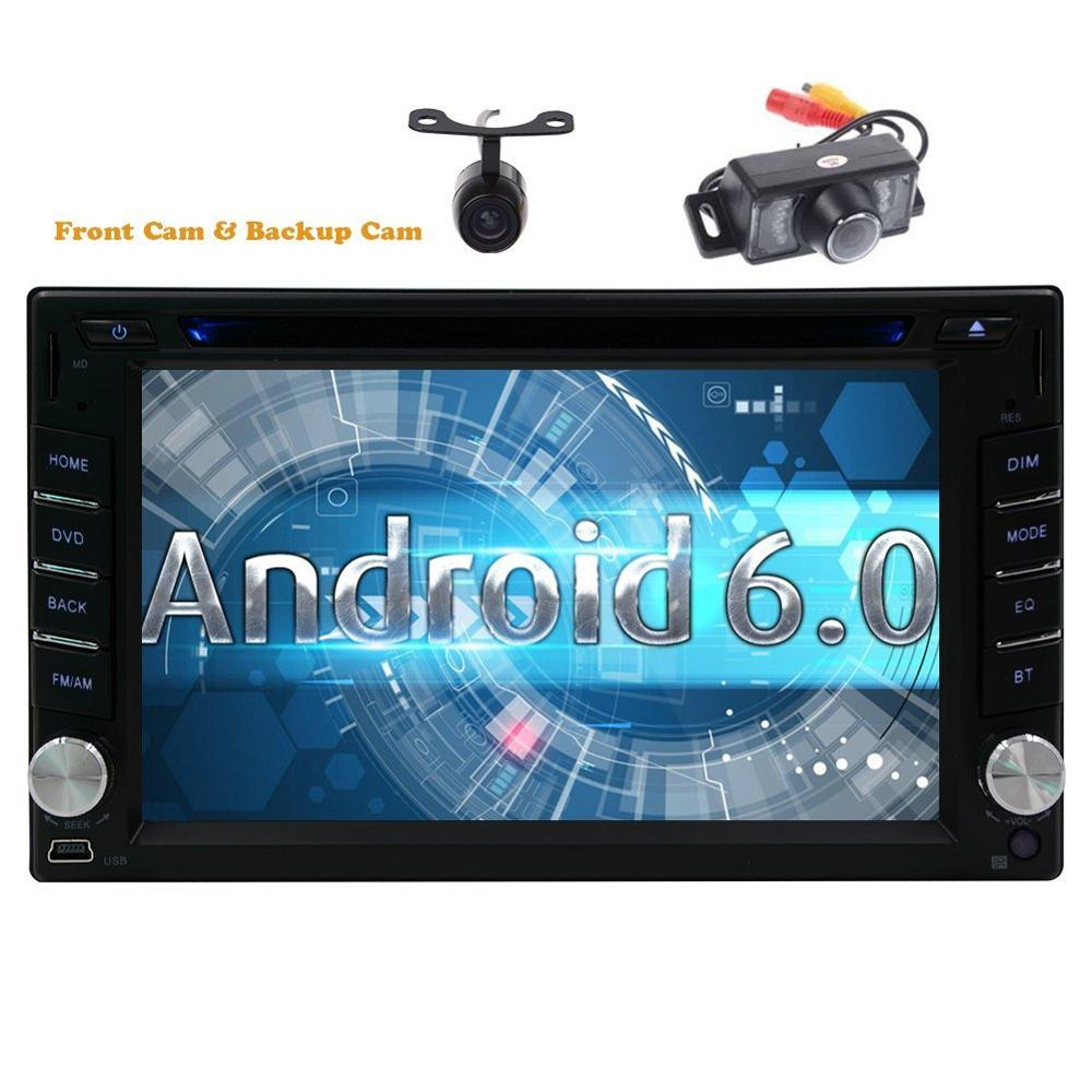 Include Front &#038; Rearview Cameras Double 2din <font><b>Android</b></font> 6.0 Car Stereo DVD Video Player GPS Navigation in Dash car gps Autoradio