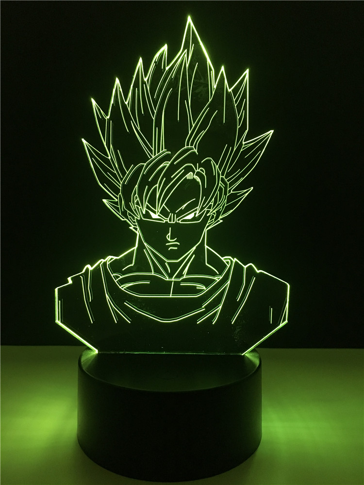 Lampe de Bureau 3D Dragon Ball Super Saiyan Goku
