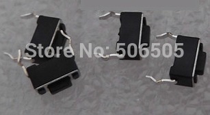 Free shipping 3x6x4.3mm touch switch DIP 2pin button switch 100pcs/lot