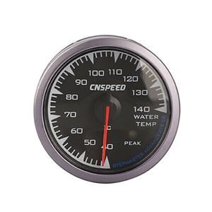 "Image 3 - CNSPEED 7 Colors LED 2.5"" 60mm 12V Universal Racing Car Water Temp Temperature Gauge Sensor for Honda  Auto Gauge Meter Pod"