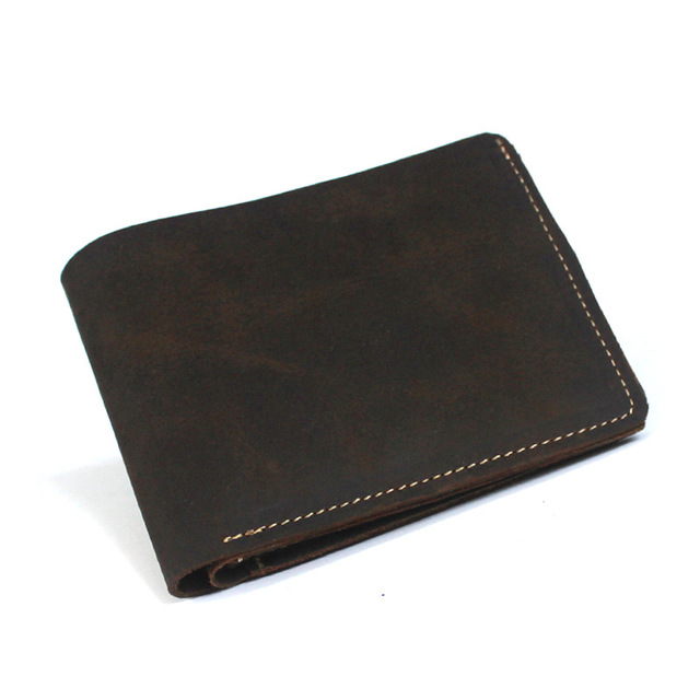 New Listing leisure head layer crazy horse leather wallet men short wallet minimalist wallet quality MLTF606wallet