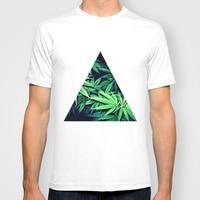 Men Summer Short Sleeves T Shirt Smoke Weed Casual Plain White T Shirt Men Clothing