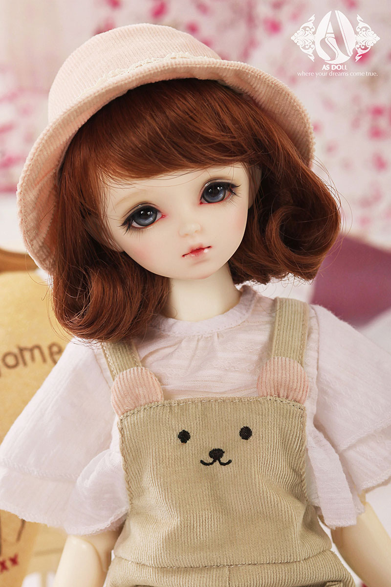 bjd accessories Original AS 1/4 bjd girl cute sweet suit Denim skirt bear top quality doll as clothing doll costume uncle 1 3 1 4 1 6 doll accessories for bjd sd bjd eyelashes for doll 1 pair tx 03