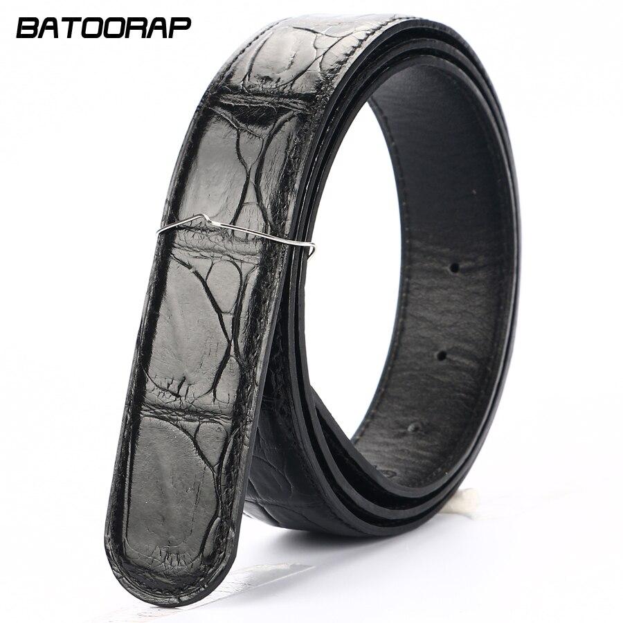 [BATOORAP] высококачественный мужской ремень из крокодиловой кожи ремни роскошные брендовые дизайнерские ремни черный/коричневый